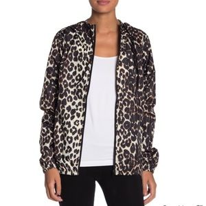 BETSEY JOHNSON LEOPARD Printed Wind-Breaker Jacket